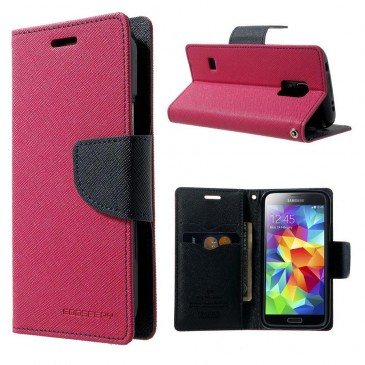 Samsung Galaxy S5 Mini Pinkki Fancy Kotelo