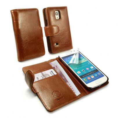 Samsung Galaxy S5 Mini Ruskea Tuff-Luv Nahkakotelo