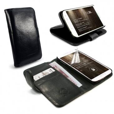 Samsung Galaxy S5 Musta Tuff-Luv Nahkakotelo