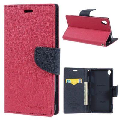 Sony Xperia Z3 Pinkki Fancy Lompakko Suojakotelo