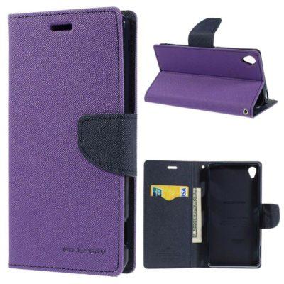 Sony Xperia Z3 Violetti Fancy Lompakko Suojakotelo