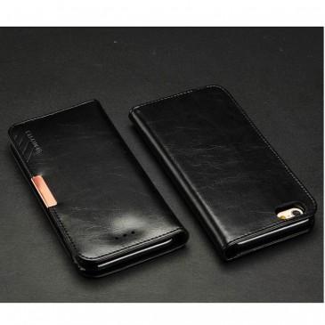 Apple iPhone 6 / 6S Musta KLD Royale II Nahkakotelo