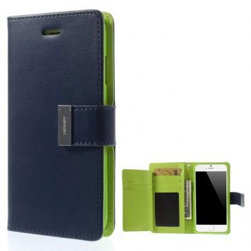 Apple iPhone 6 / 6S Sininen Rich Diary Lompakkokotelo