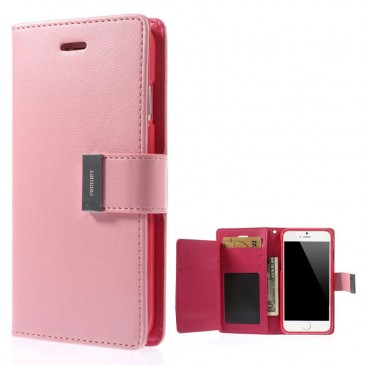 Apple iPhone 6 / 6S Vaaleanpun. Rich Diary Kotelo