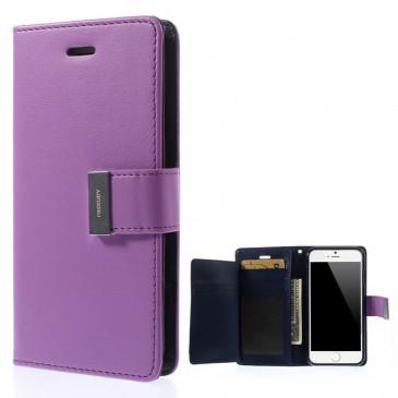 Apple iPhone 6 / 6S Violetti Rich Diary Lompakkokotelo