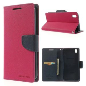 HTC Desire 816 Pinkki Fancy Lompakko Suojakotelo