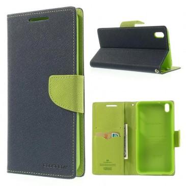 HTC Desire 816 Sininen Fancy Lompakko Suojakotelo