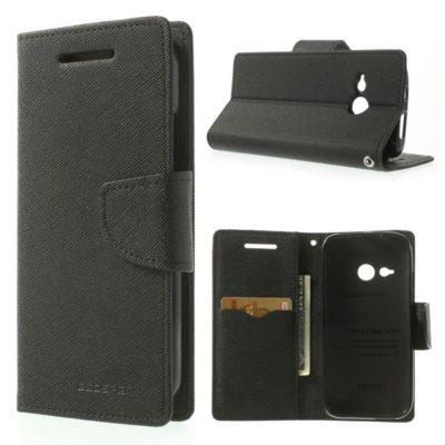 HTC One Mini 2 Musta Fancy Lompakko Suojakotelo