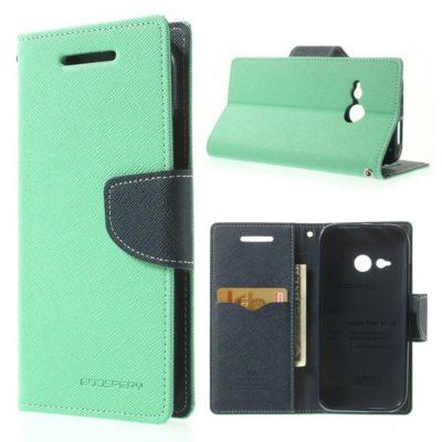 HTC One Mini 2 Syaani Fancy Lompakko Suojakotelo