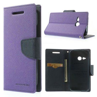 HTC One Mini 2 Violetti Fancy Lompakko Suojakotelo