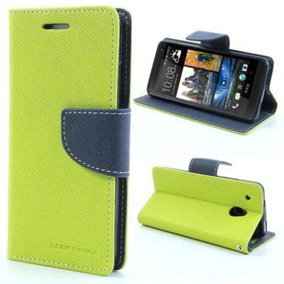 HTC One Mini Vihreä Fancy Lompakko Suojakotelo