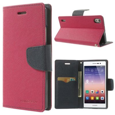 Huawei Ascend P7 Pinkki Fancy Suojakotelo