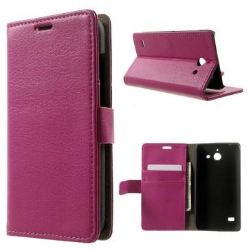Huawei Ascend Y550 Pinkki Lompakko Suojakuori