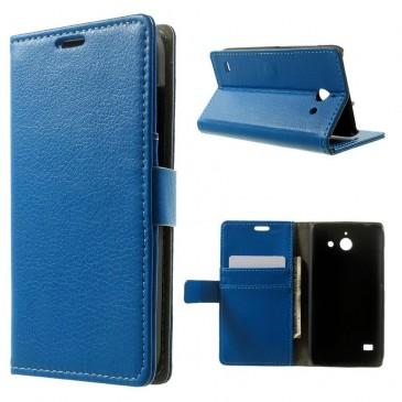 Huawei Ascend Y550 Sininen Lompakko Suojakuori