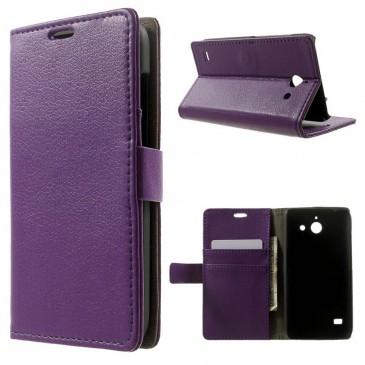 Huawei Ascend Y550 Violetti Lompakko Suojakuori