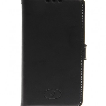 LG F60 Musta Insmat Nahka Lompakko Suojakotelo