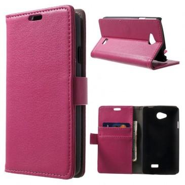 LG F60 Pinkki PU-Nahka Lompakko Suojakuori