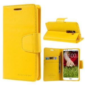 LG G2 Keltainen Sonata Lompakko Suojakotelo