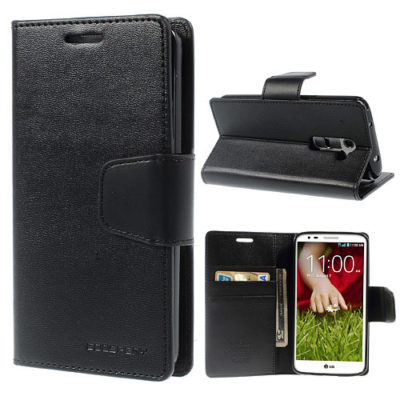 LG G2 Musta Sonata Lompakko Suojakotelo