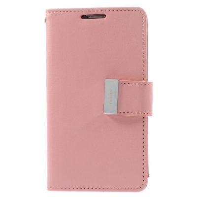 LG G3 Vaaleanpunainen Rich Diary Suojakotelo