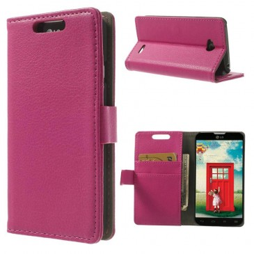 LG L70 Pinkki PU-Nahka Lompakko Suojakotelo