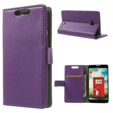 LG L70 Violetti PU-Nahka Lompakko Suojakotelo