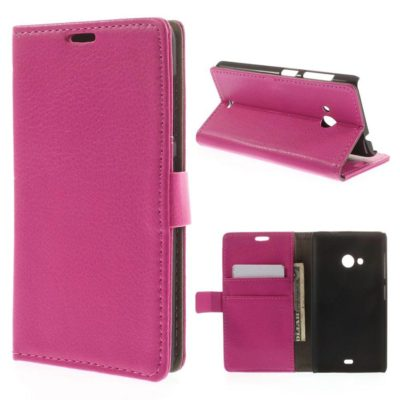 Microsoft Lumia 535 Pinkki Lompakko Suojakotelo