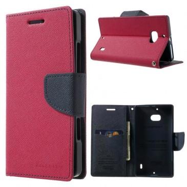 Nokia Lumia 930 Pinkki Fancy Lompakko Suojakotelo