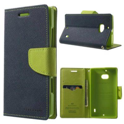 Nokia Lumia 930 Sininen Fancy Lompakko Suojakotelo