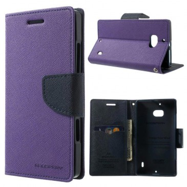 Nokia Lumia 930 Violetti Fancy Lompakko Suojakotelo