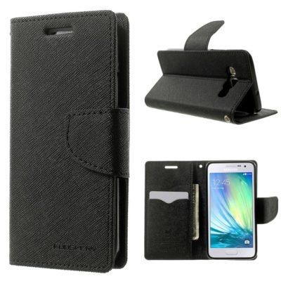 Samsung Galaxy A3 Musta Fancy Lompakkokotelo