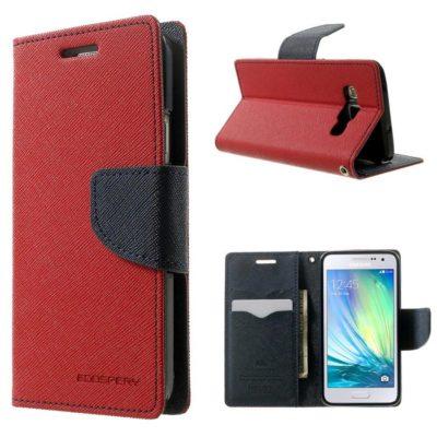 Samsung Galaxy A3 Punainen Fancy Lompakkokotelo
