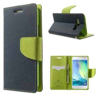 Samsung Galaxy A3 Sininen Fancy Lompakkokotelo