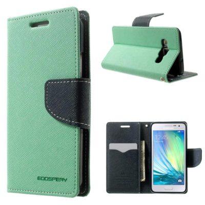 Samsung Galaxy A3 Syaani Fancy Lompakkokotelo