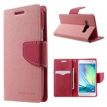 Samsung Galaxy A3 Vaaleanpunainen Fancy Kotelo