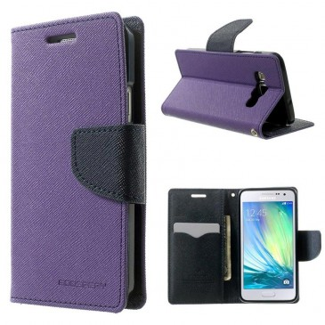 Samsung Galaxy A3 Violetti Fancy Lompakkokotelo