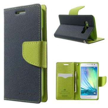 Samsung Galaxy A5 Sininen Fancy Lompakkokotelo