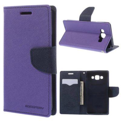 Samsung Galaxy A5 Violetti Fancy Lompakkokotelo