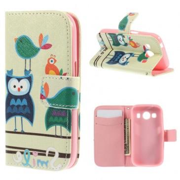 Samsung Galaxy Ace 4 Lompakko Suojakuori – Pöllö 1