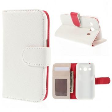Samsung Galaxy Ace 4 Valkoinen Lompakko Suojakotelo