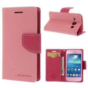 Samsung Galaxy Core Plus Vaaleanpunainen Fancy Kotelo