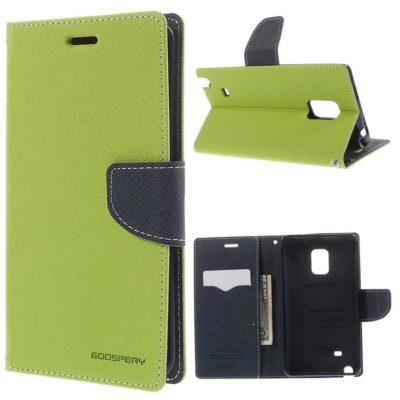 Samsung Galaxy Note Edge Vihreä Fancy Suojakotelo