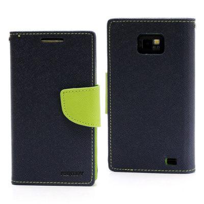 Samsung Galaxy S2 Sininen Fancy Lompakko Suojakuori