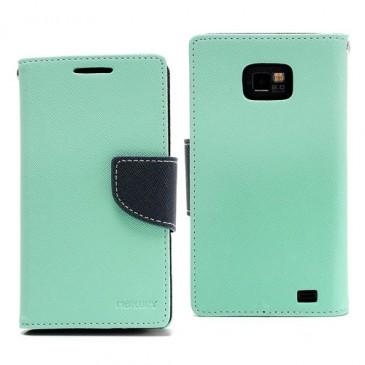 Samsung Galaxy S2 Syaani Fancy Lompakko Suojakuori