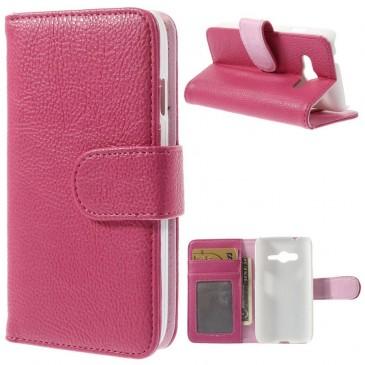 Samsung Galaxy Trend 2 Pinkki Lompakkokotelo