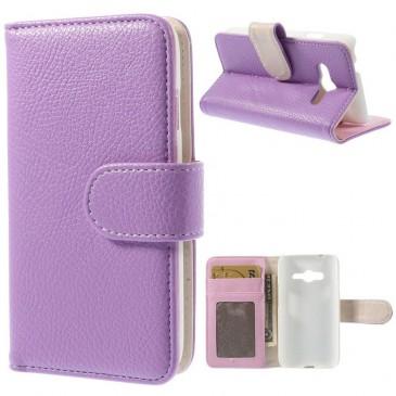 Samsung Galaxy Trend 2 Violetti Lompakkokotelo