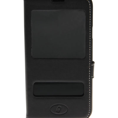 Samsung Galaxy S5 Musta Insmat Ikkuna Nahkakotelo