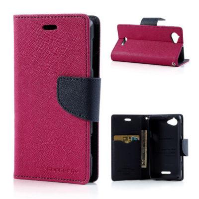 Sony Xperia L Pinkki Fancy Lompakko Suojakotelo