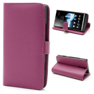 Sony Xperia S Pinkki Lompakko Suojakotelo