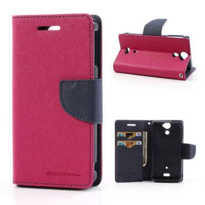 Sony Xperia V Pinkki Fancy Lompakko Suojakotelo